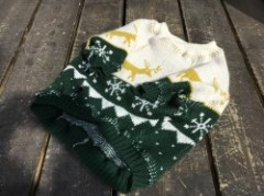 vintage!  knit  English Bulldog L